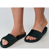 hunkemöller fake fur velour slippers grön