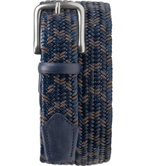 men's trask falcon woven belt, size 32 - navy/ charcoal