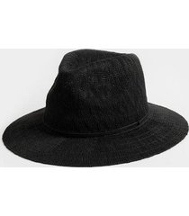 adriene braided band panama hat in black - black