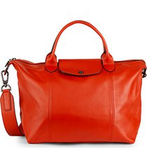 le pliage leather satchel