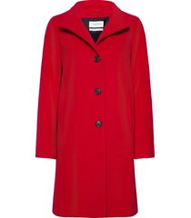 coat not wool wollen jas lange jas rood gerry weber edition