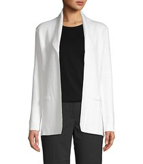 cotton cashmere open-front jacket