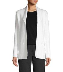 cotton cashmere open-front jacket