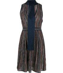 m missoni fine knit dress - blue