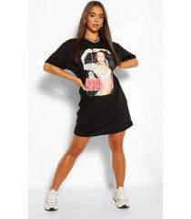 aaliyah graphic t-shirtjurk, zwart