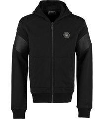 philipp plein cotton full-zip hoodie