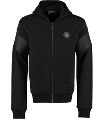 philipp plein cotton full-zip hoodie