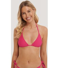 na-kd swimwear triangle bikini top - pink