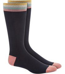 bar iii men's black socks, created for macy's