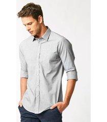 camisa aviator social fit masculina