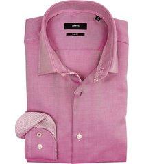 hugo boss overhemd paars dessin slim fit