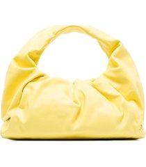 bottega veneta small the shoulder pouch leather bag - yellow