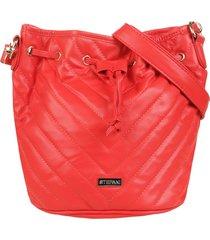 bolso rojo stefani liso