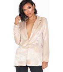 missguided peached satin co ord blazer kavajer