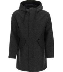 a.p.c. benoit long parka jacket