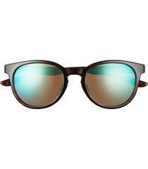 women's smith eastbank 52mm chromapop(tm) polarized round sunglasses - tortoise/polarized opal mirror