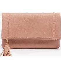 women's tasia clutch vegan foldover clutch canyon vegan leather from sole society