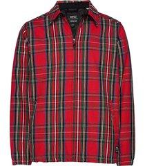 coach tartan zip jacket tunn jacka röd wesc