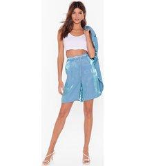 let's glow metallic longline shorts
