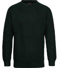 chunky crew neck gebreide trui met ronde kraag groen lee jeans