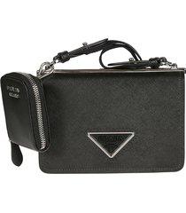 prada detachable strap triangle logo shoulder bag