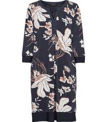 dress short 3/4 sleeve knälång klänning blå betty barclay