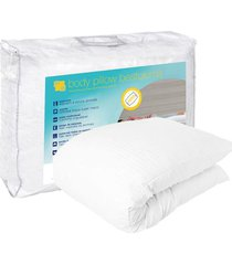 travesseiro de corpo body pillow bestpluma 45 x 150 cm theva