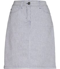 casual skirt knälång kjol blå brandtex