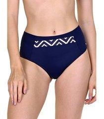 bikini lisca hoge taille zwembroekje costa rica blauw