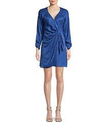 linda print silk-blend wrap dress