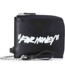 "off-white ""for money"" print wallet - black"