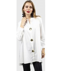 camison charm blanco fashion's pacific