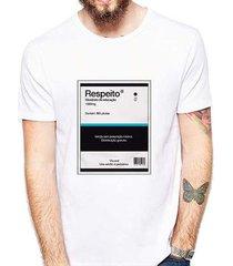 camiseta coolest respeito remédio masculina - masculino
