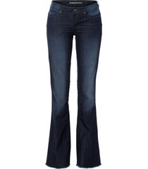 jeans a zampa effetto push-up (blu) - rainbow