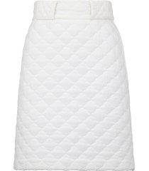 fendi quilted high-waisted skirt - white