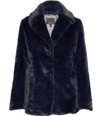 faux fur short coat outerwear faux fur blå banana republic