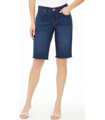 style & co raw-edge denim bermuda shorts, created for macy's