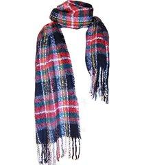 bufanda tartan highlands negro rojo viva felicia