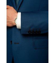 garnitur forge 311 niebieski slim fit