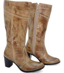 bota feminina cano médio montaria bmbrasil 2001 - feminino