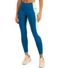 ideology women's colorblock 7/8 leggings, created for macy's