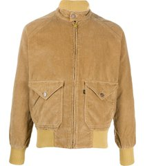 levi's vintage clothing corduroy-style high collar jacket - brown