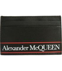 alexander mcqueen logo card holder