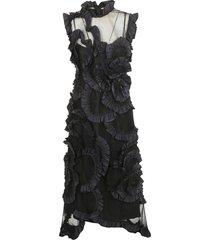 moncler ruffle applique dress