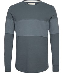 anf mens knits stickad tröja m. rund krage blå abercrombie & fitch