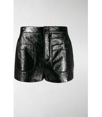 saint laurent shiny shorts