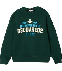 dsquared2 dark green sweatshirt