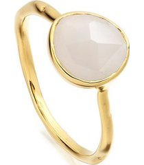 siren moonstone stacking ring, gold vermeil on silver