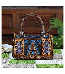 cotton handle handbag, 'banda bay' (indonesia)