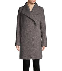 asymmetric topper coat